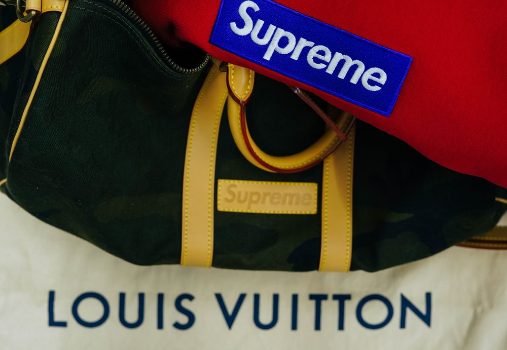 black Supreme handbag