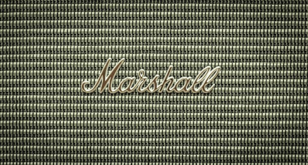 gray Marshall amplifier