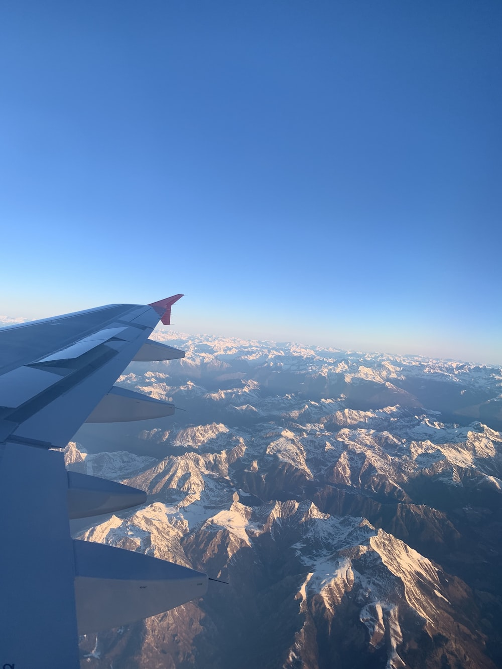 white airplane window wing view