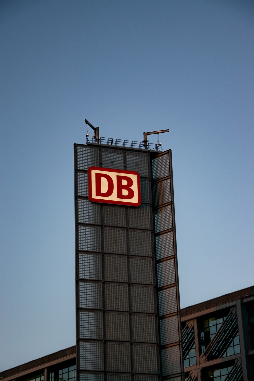 red and white DB signage