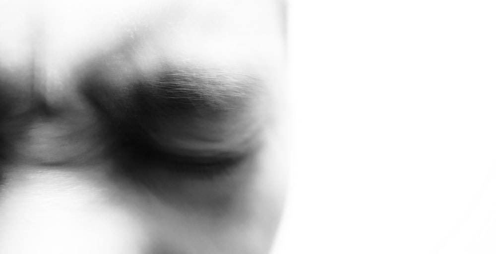person closing eyes