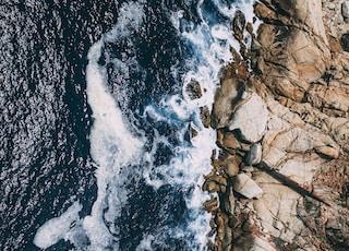 rock formations near shore