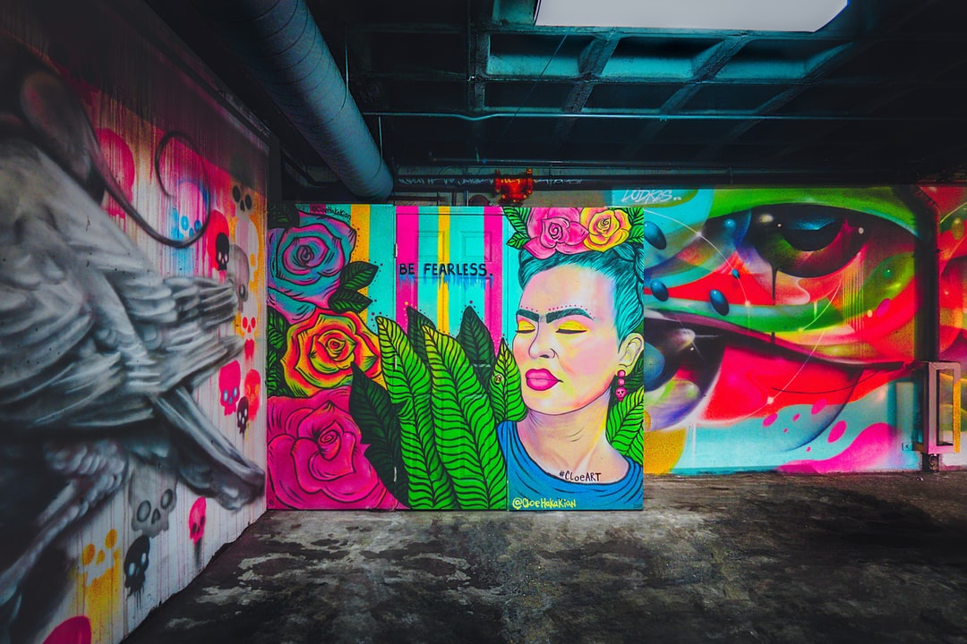 I've been driving all over Los Angeles looking for construction paper for a stop motion video and I stumbled upon  a parking garage under an art supply store that was floor to ceiling covered in murals. A variety of styles, a variety of artists, and a variety of emotions. I love how a dark place can be transformed by the use of bright colors and that this shot represents people of different styles and backgrounds coming together. I guess it is a reminder that art sometimes finds the artist. A special thanks to Cloe Hakakian # Cloeart