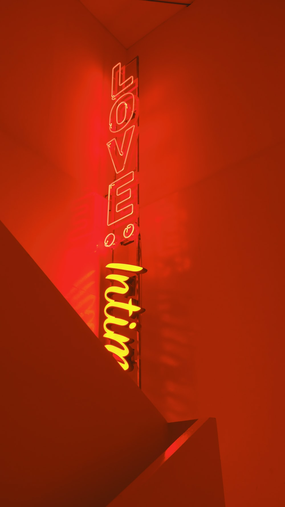 red love neon light signage