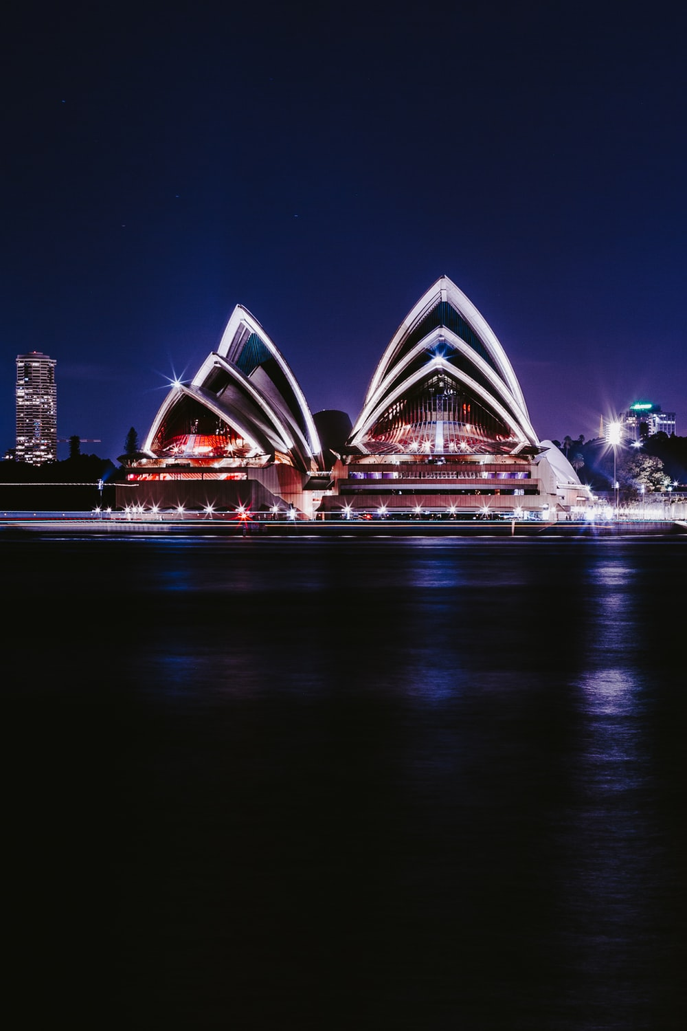 Sydney Opera house view during night