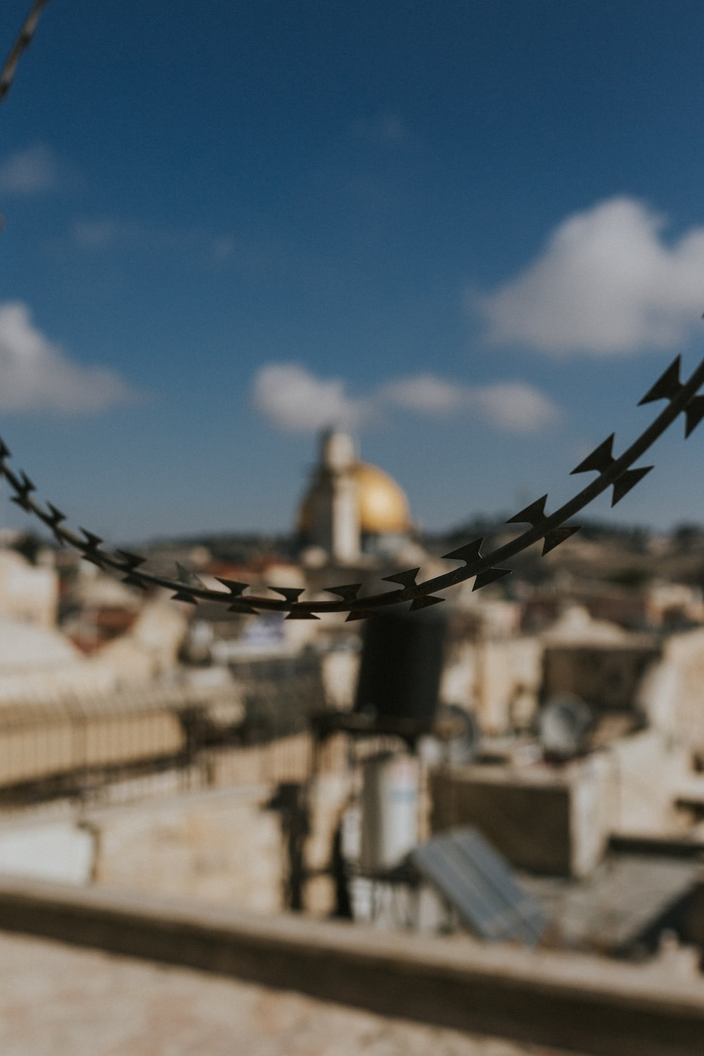 selective focus photography of black barbwire