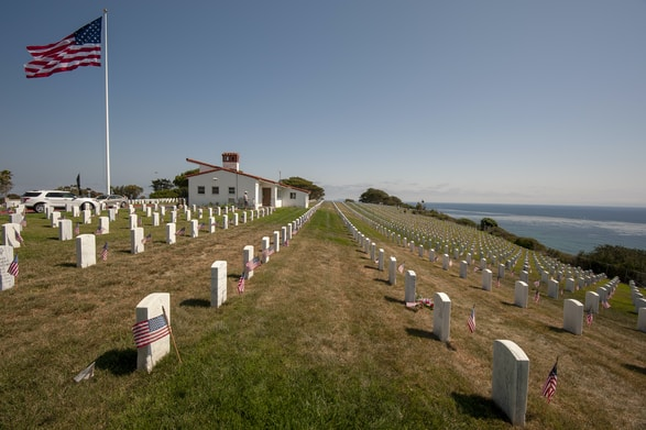 soldier's grave yard during daytime