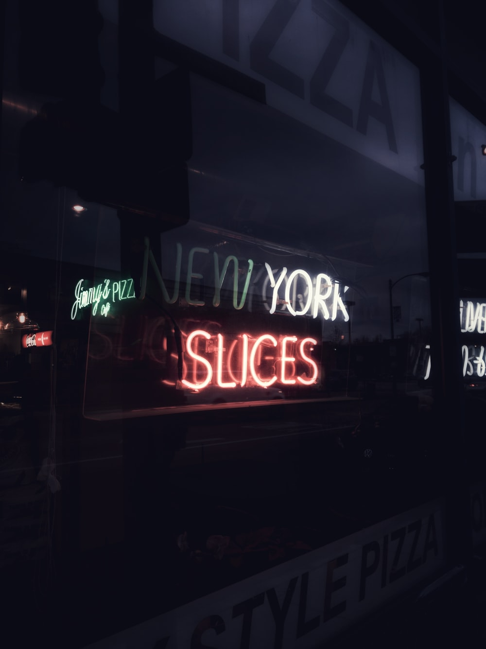 turned on neon signs