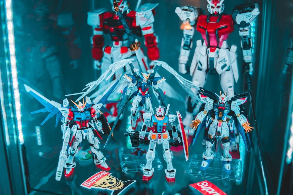 Gundam action figure display