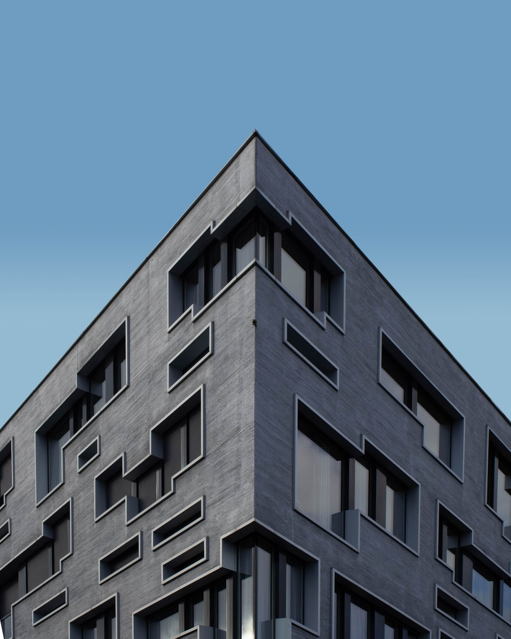 low angle photo of concrete building