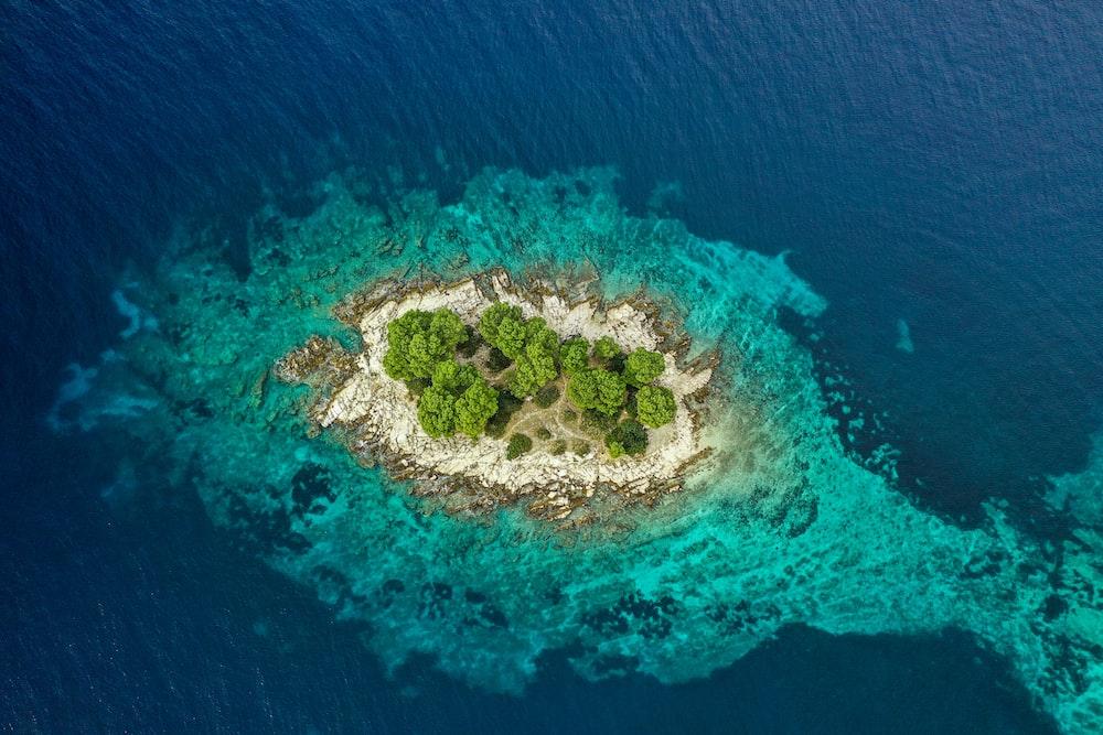 aerial green island