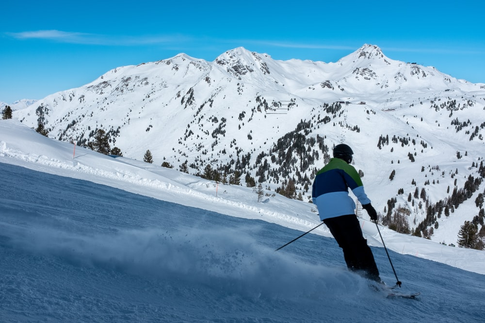 person skiing outdoor