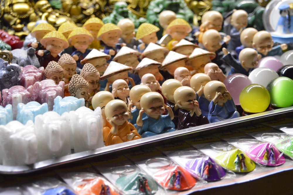 monk boy figurine collection