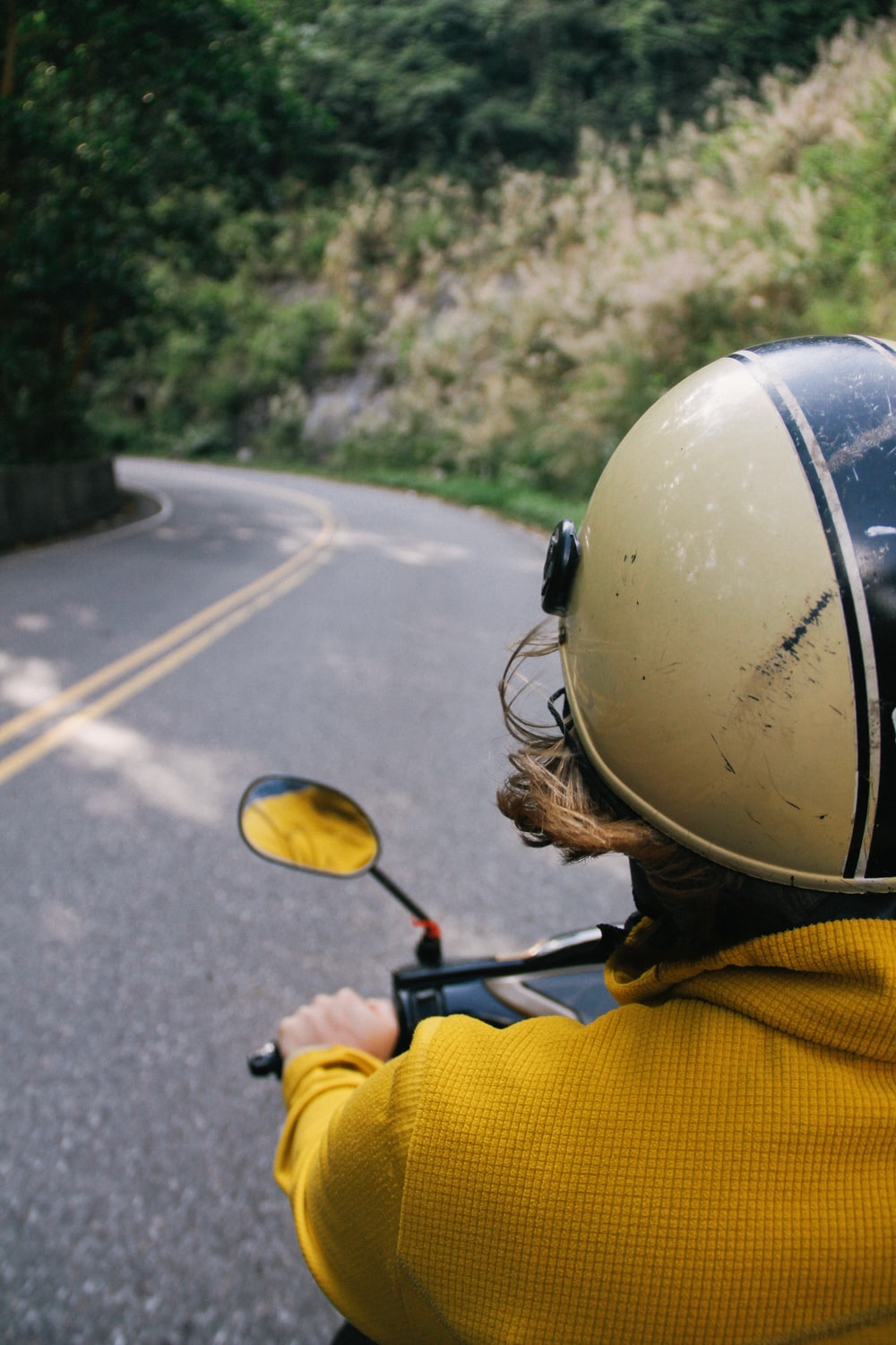 person riding motorcycle