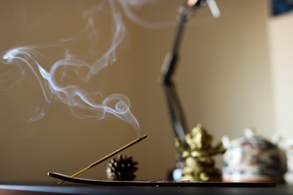 lighted incense