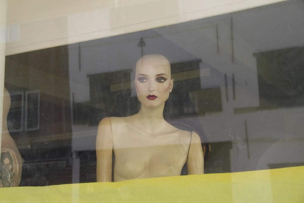 female mannequin in store