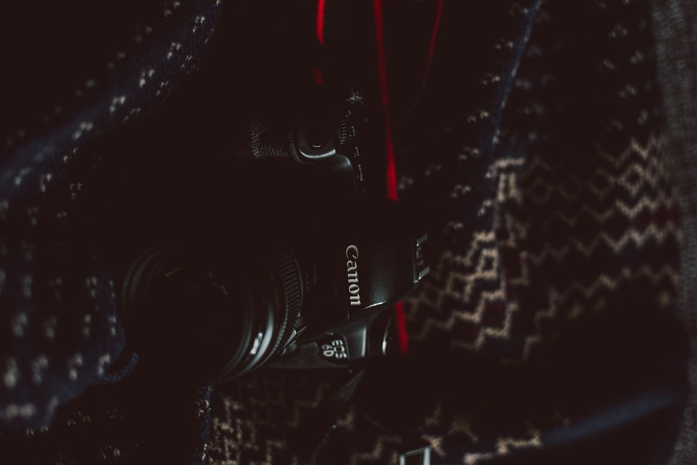 black Canon camera