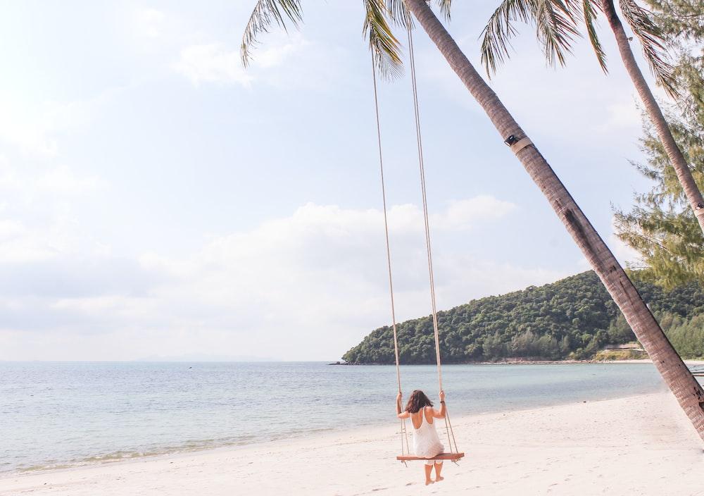 woman in swing