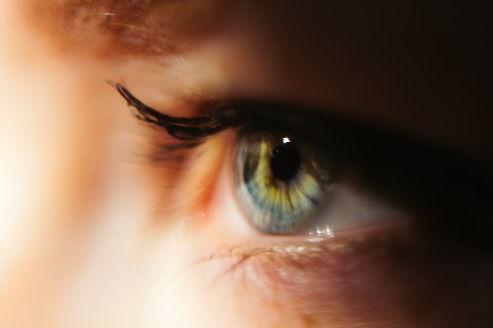 person showing left eye