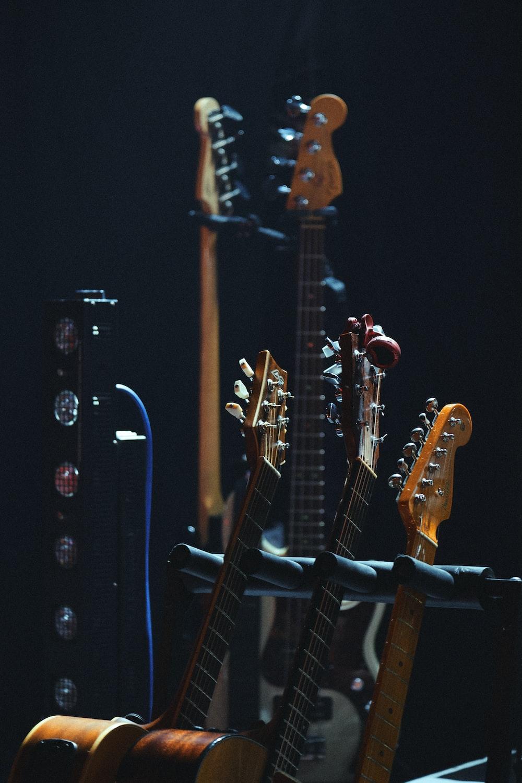 several guitars