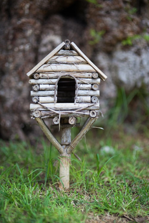white wooden birdhouse