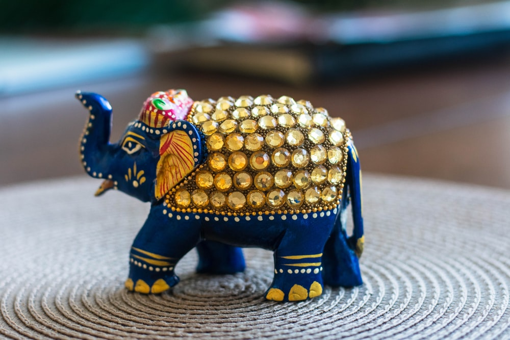 blue elephant figurine