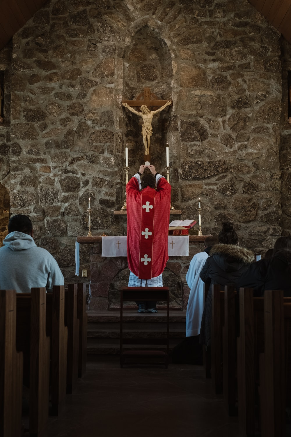 father on altar