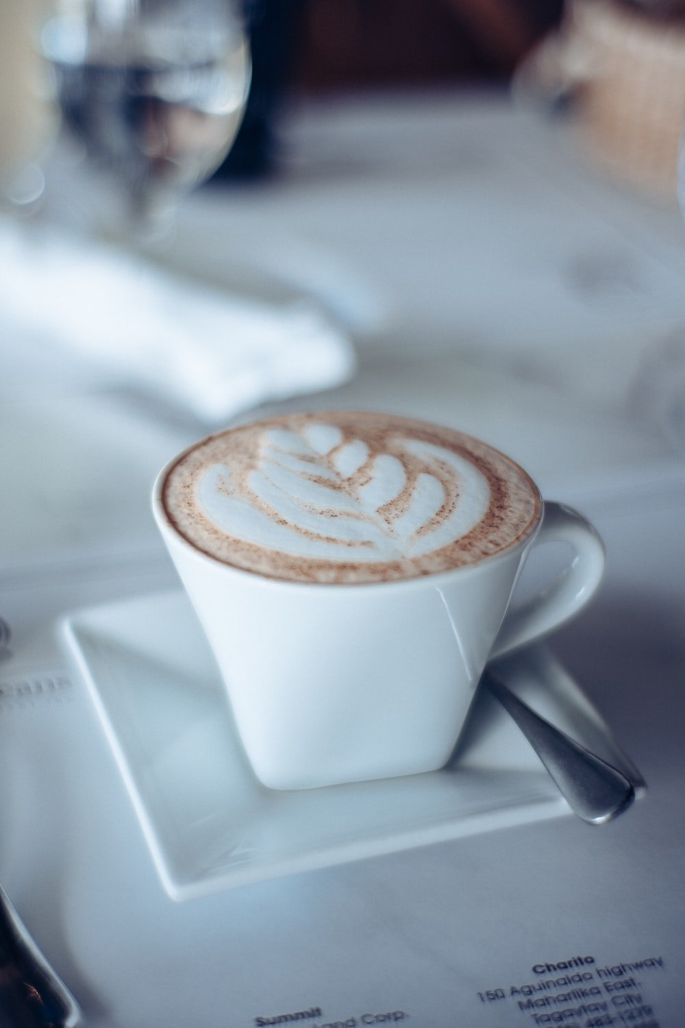 cappuccino on saucer