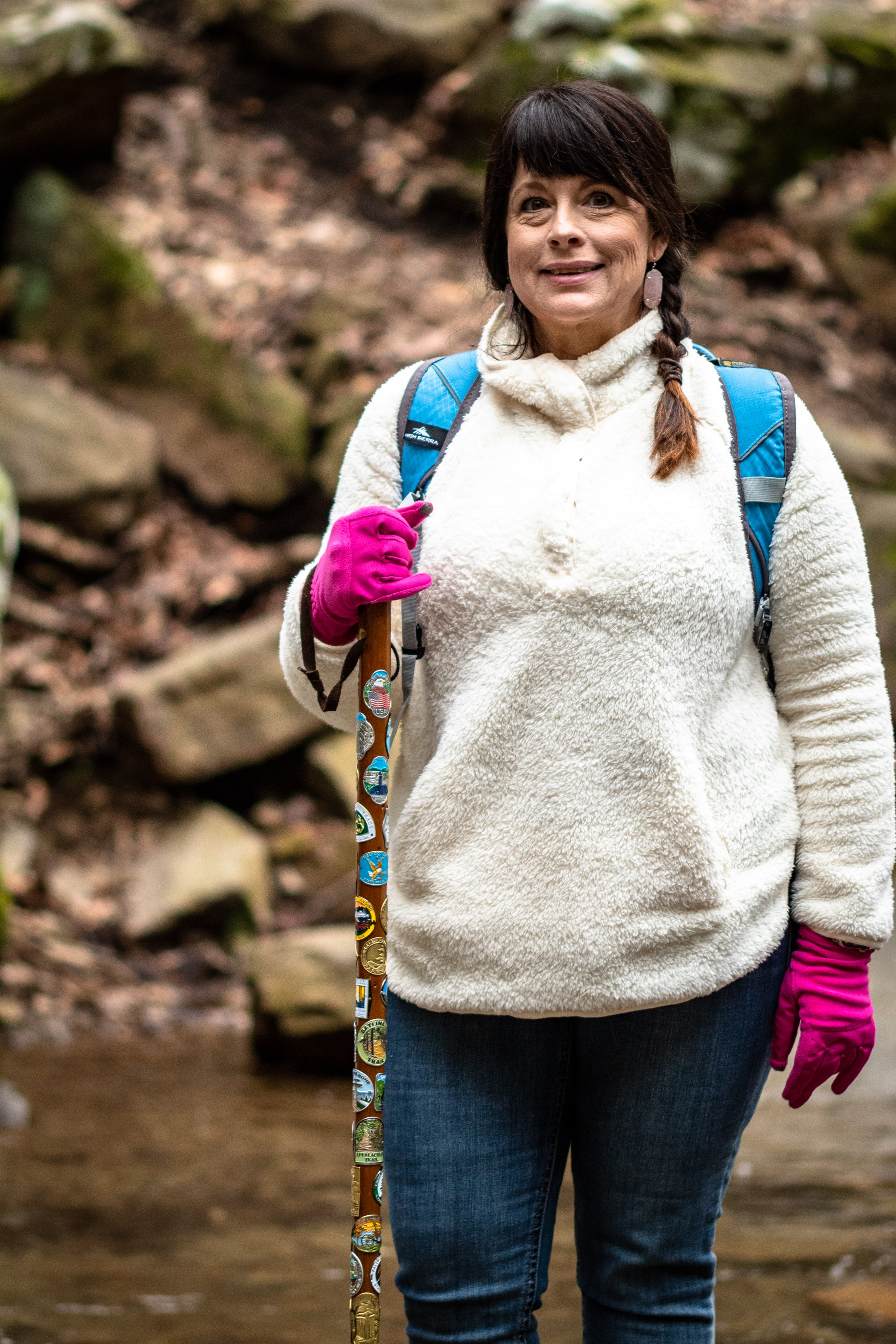 International Women's Day!  Hiking the Cloudland Canyon State Park trails, checking out the waterfalls, and enjoying the outdoors. Women are tough and adventurous!