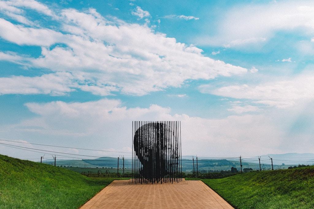 Nelson Mandela artwork at daytime