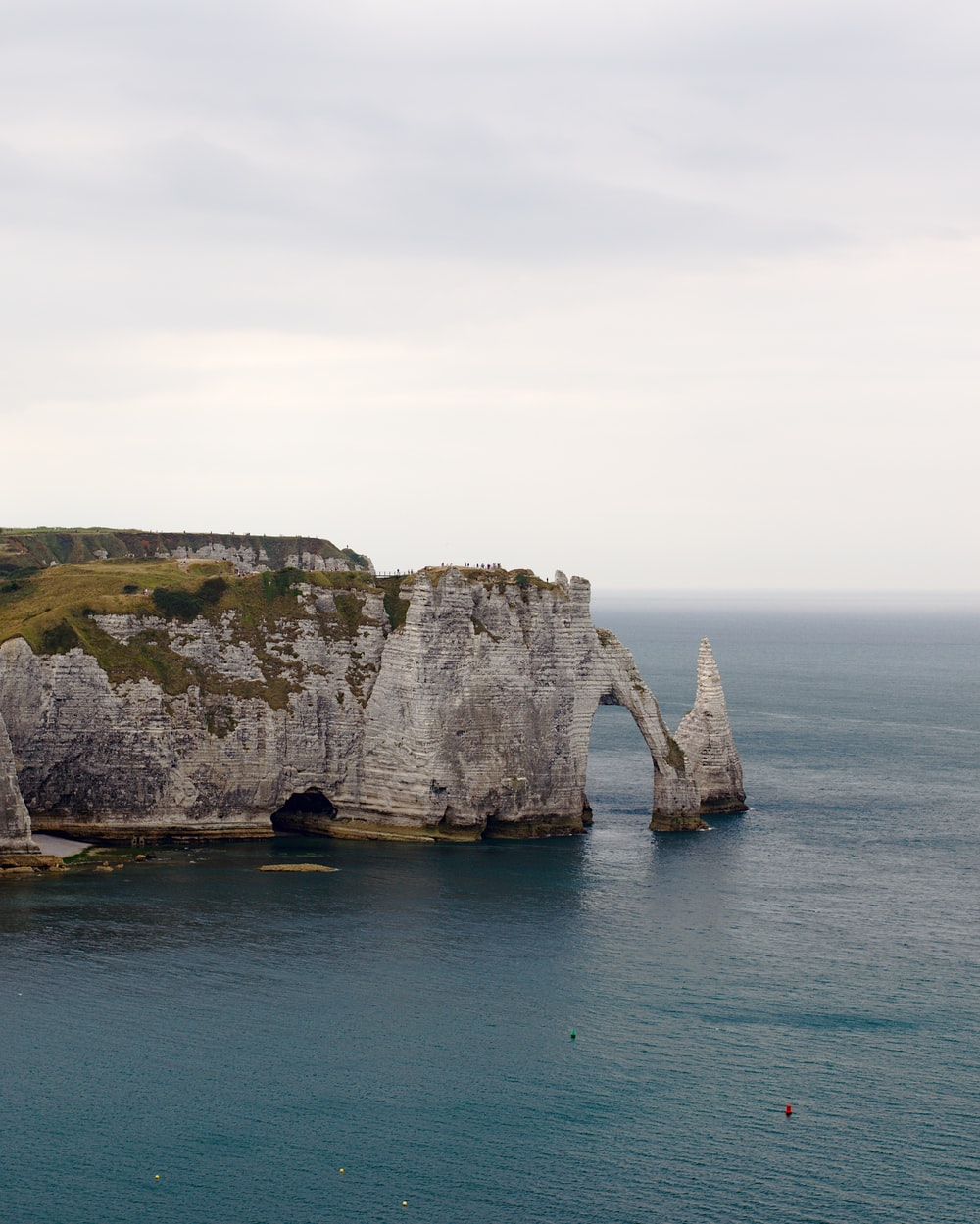 rock formation and body of water