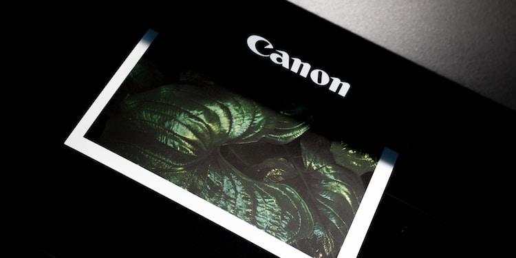black Canon photo printer