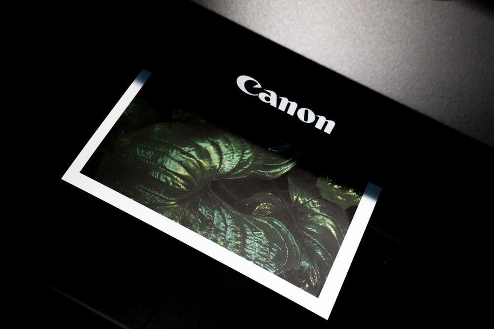 black Canon photo printer