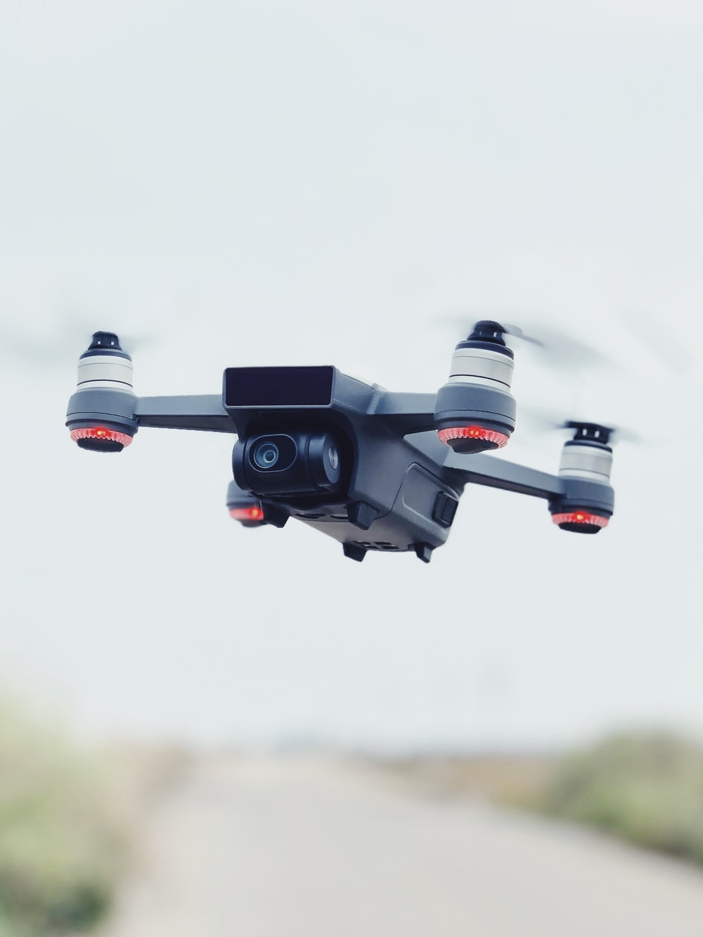 time-lapse photography of drone in flight