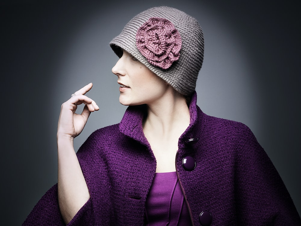 woman wearing knitted cap and coat