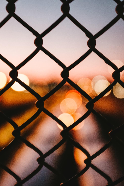 black cyclone fence