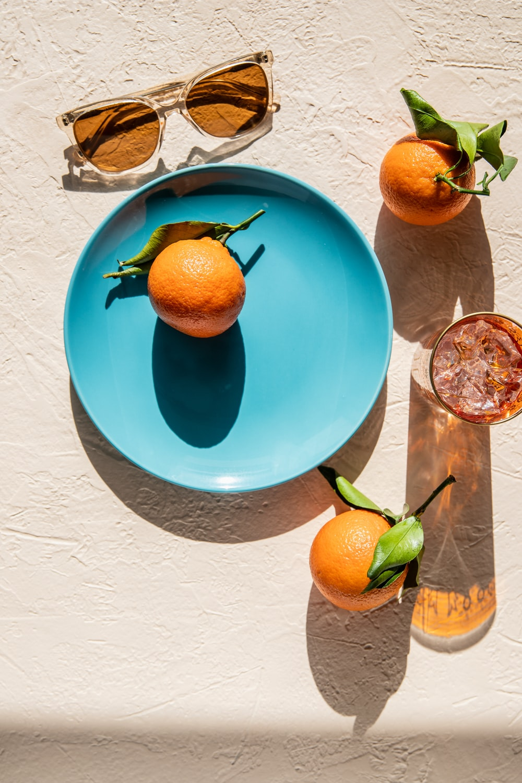orange fruit on plate