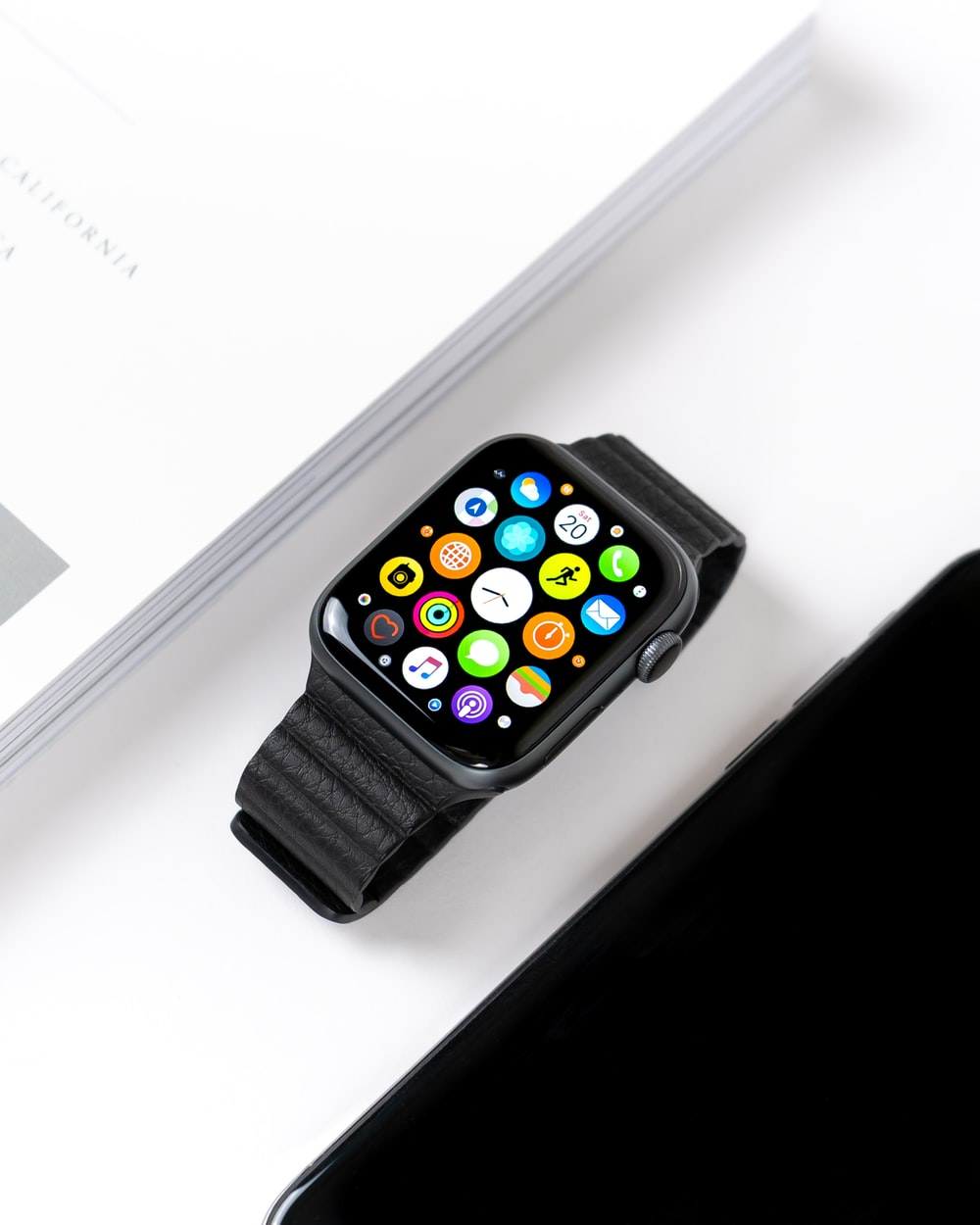black G208 smart watch