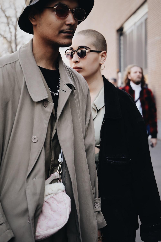 man wearing gray button-up coat