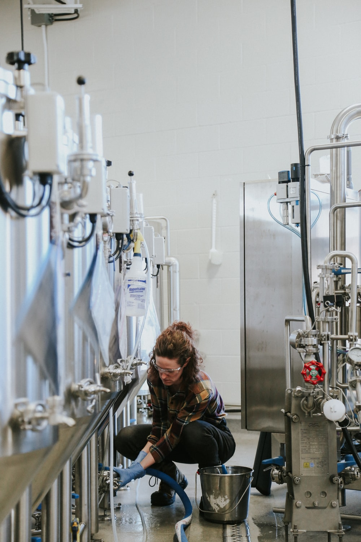 woman inside factory