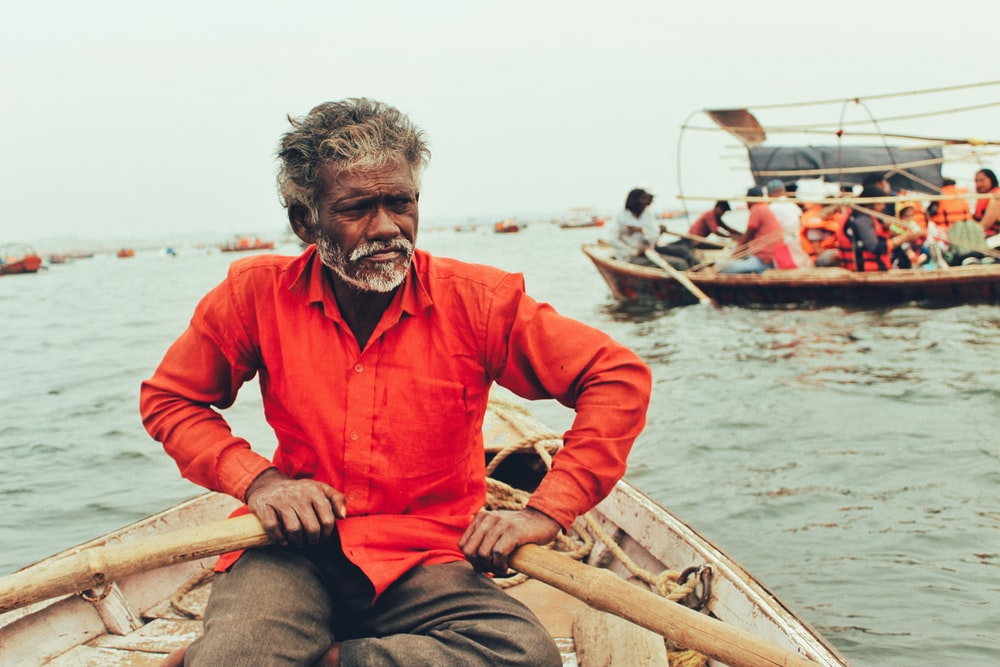 man on boat