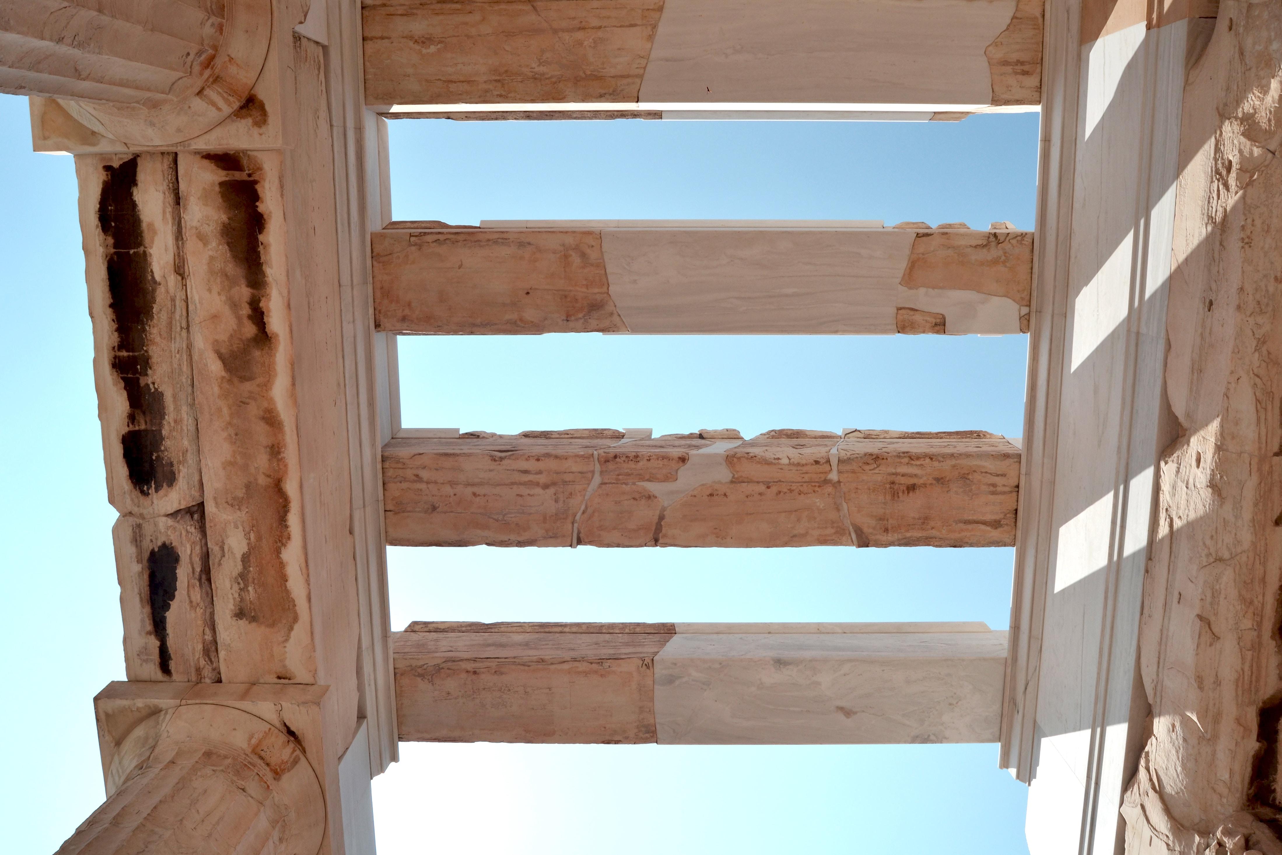 beige arch under blue sky