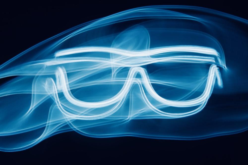 blue waves sunglasses illustration