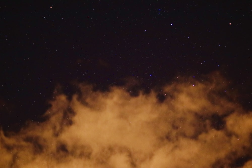 white cloud during night time