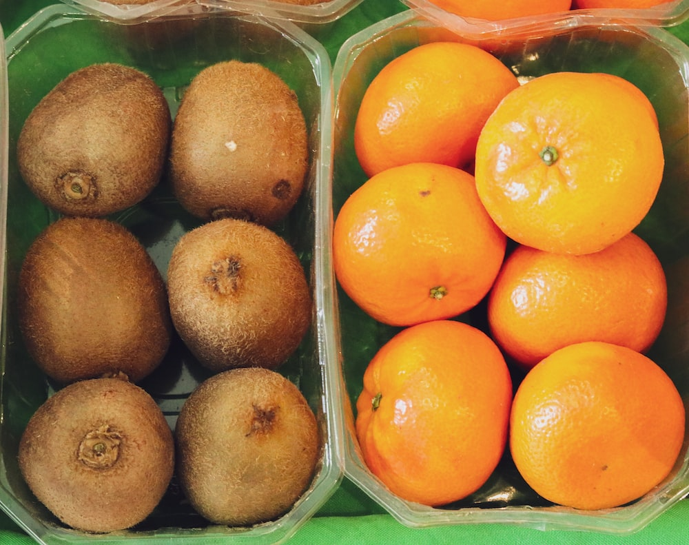 orange and brown fruits