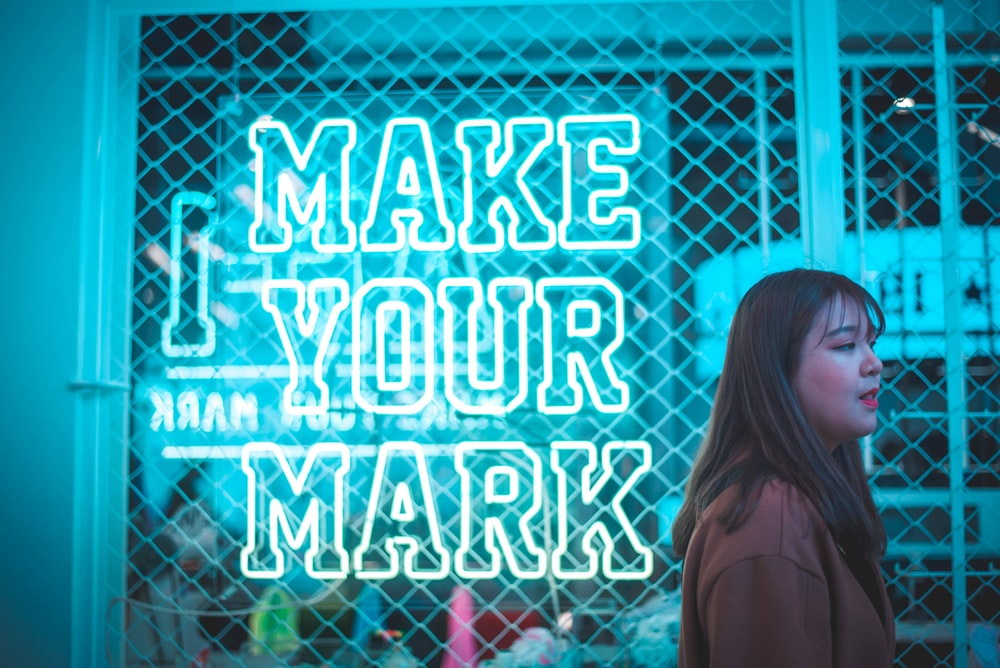 make your mark neon light sign