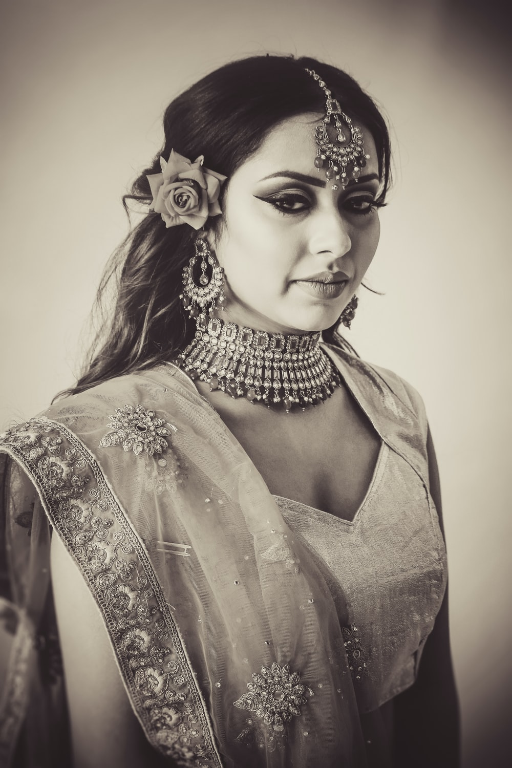 grayscale photography of dress