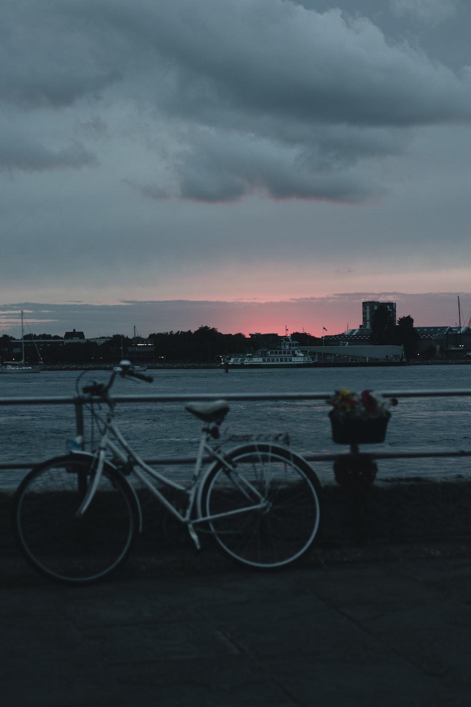 bike beside railing