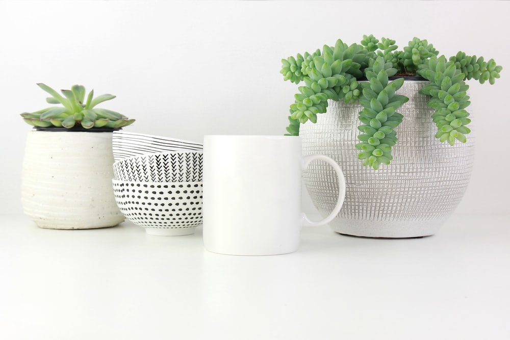 white ceramic cup on white surface