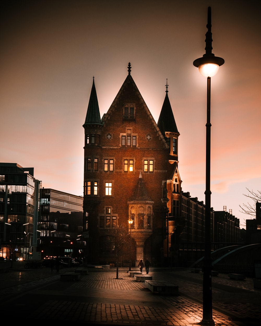 brown building during golden hour